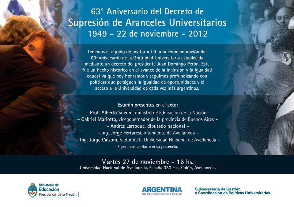 63º Aniversario Gratuidad Universitaria