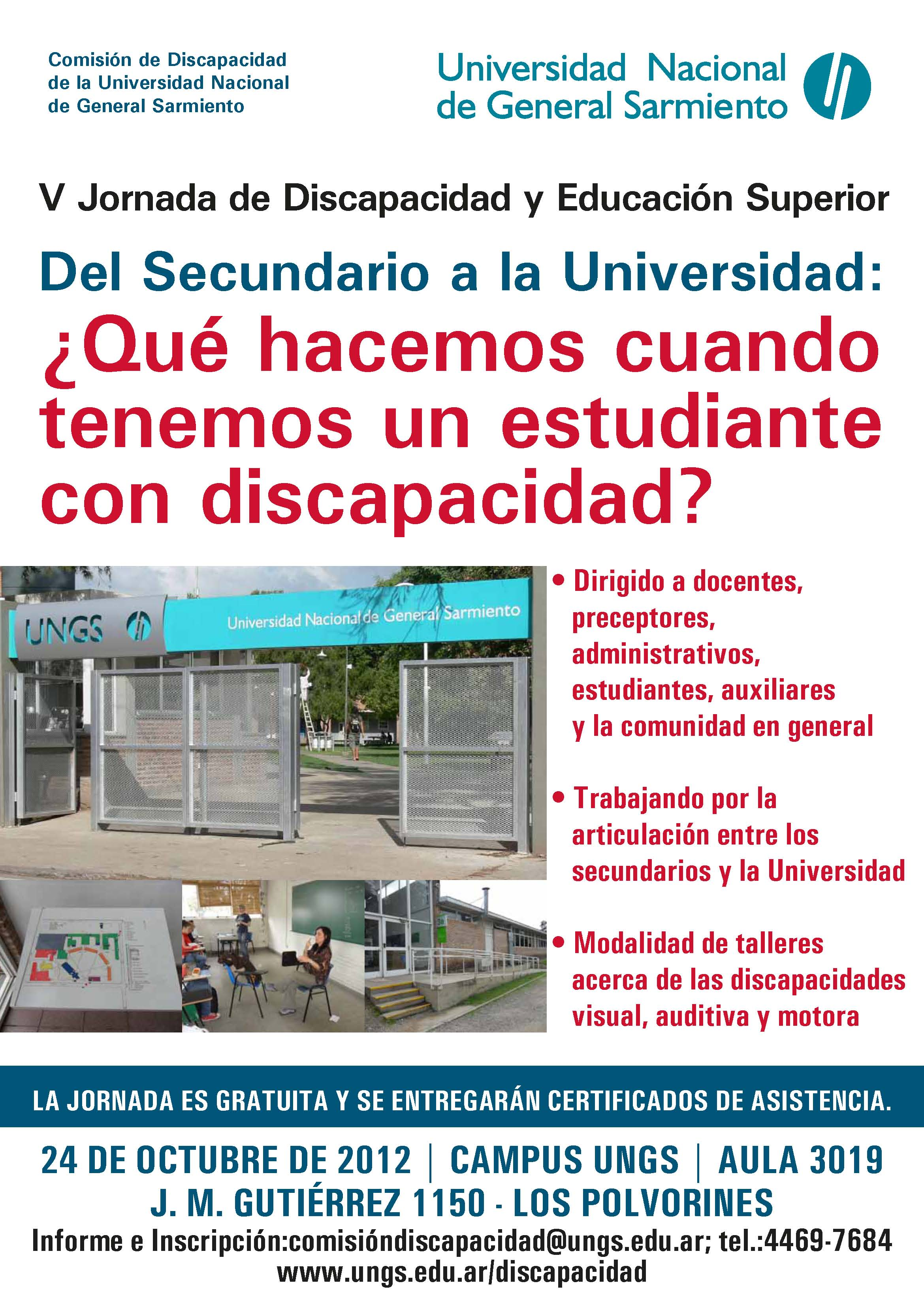 Imagen V Jornada de Discapacidad UNGS 2012
