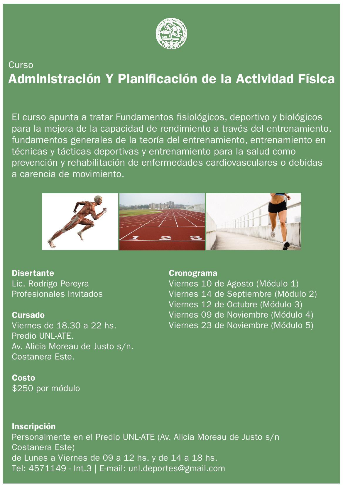 Curso Administración y Planificación de la actividad Física